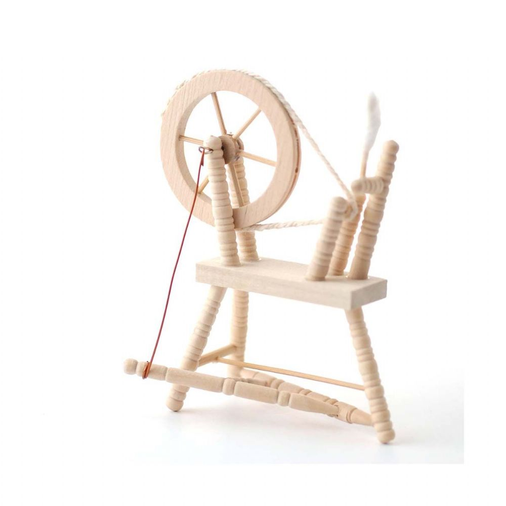 Barewood Dolls House Furniture Bare Essentials 1:12 BEF064 Spinning Wheel